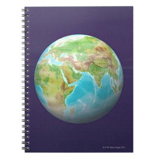 3D Globe 11 Notebook
