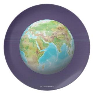 3D Globe 11 Plate