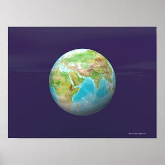 3D Globe 11 Poster
