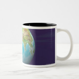 3D Globe 11 Two-Tone Coffee Mug