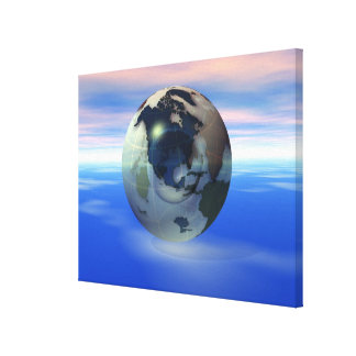 3D Globe 12 Canvas Print