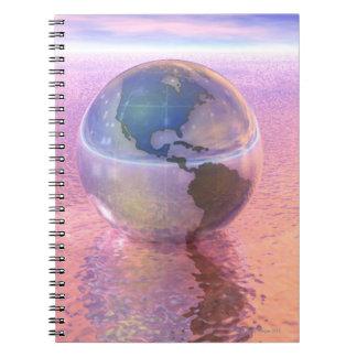 3D Globe 12 Spiral Note Book
