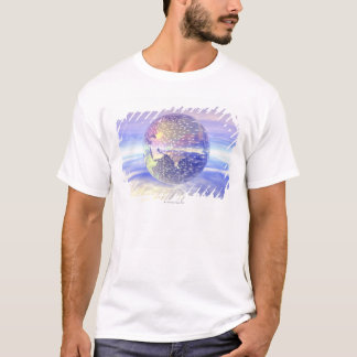 3D Globe 13 T-Shirt