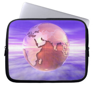 3D Globe 17 Laptop Computer Sleeve