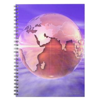 3D Globe 17 Notebook