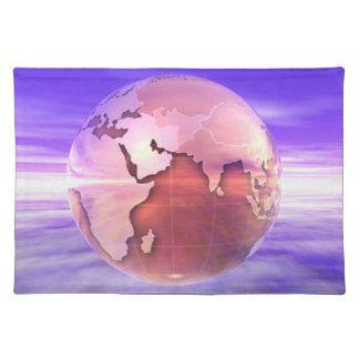 3D Globe 17 Placemat