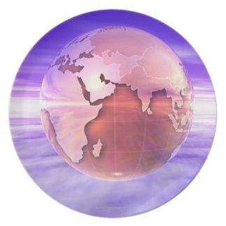 3D Globe 17 Plate