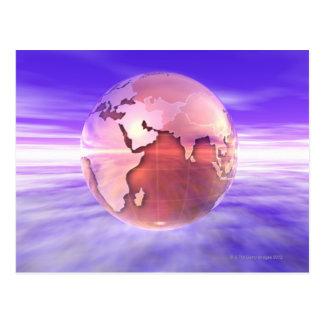 3D Globe 17 Postcard