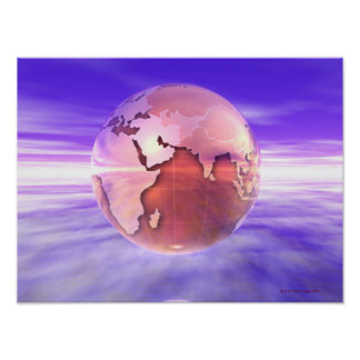 3D Globe 17 Poster