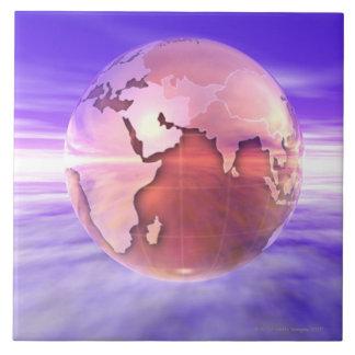 3D Globe 17 Tile