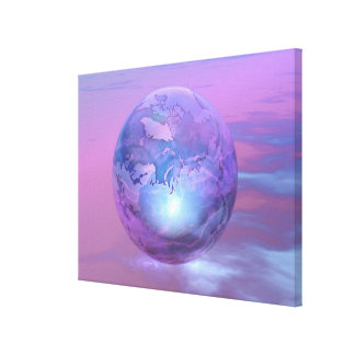 3D Globe 18 Gallery Wrap Canvas