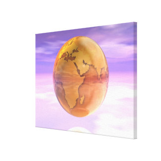 3D Globe 2 Stretched Canvas Print