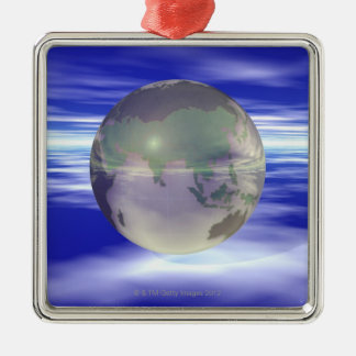 3D Globe 3 Christmas Ornament