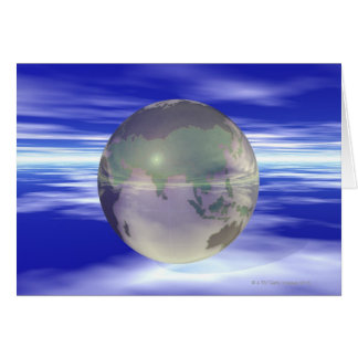 3D Globe 3 Greeting Card