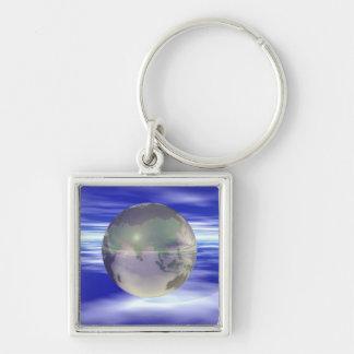 3D Globe 3 Key Ring