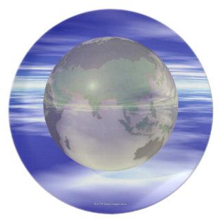 3D Globe 3 Plate