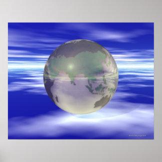 3D Globe 3 Poster