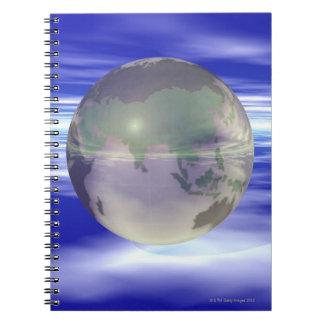 3D Globe 3 Spiral Notebook