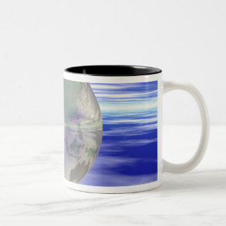 3D Globe 3 Two-Tone Coffee Mug