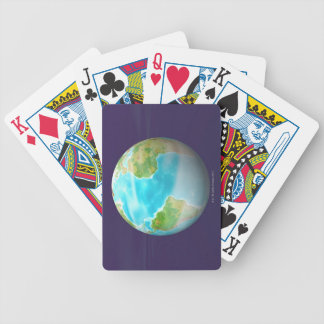 3D Globe 4 Bicycle Playing Cards