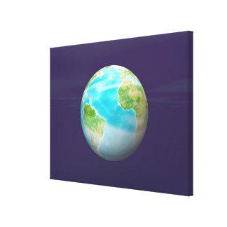 3D Globe 4 Canvas Print