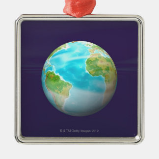 3D Globe 4 Christmas Ornament