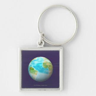3D Globe 4 Key Ring