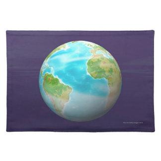 3D Globe 4 Placemat