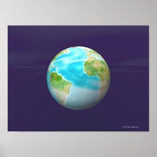 3D Globe 4 Poster