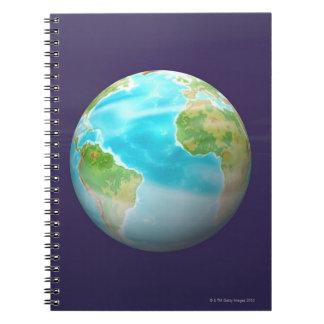 3D Globe 4 Spiral Notebook