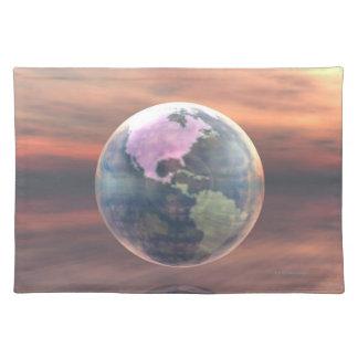 3D Globe 5 Placemat