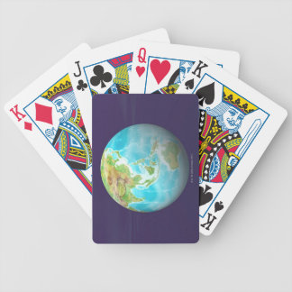 3D Globe 6 Bicycle Playing Cards