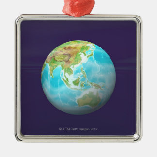 3D Globe 6 Christmas Ornament