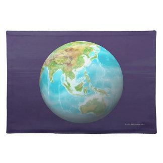 3D Globe 6 Placemat