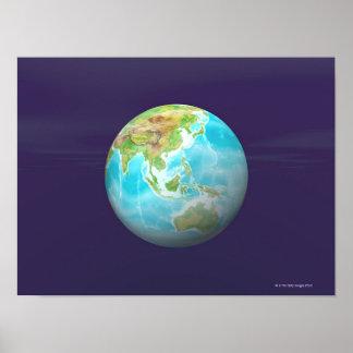3D Globe 6 Poster