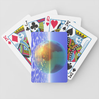 3D Globe 9 Bicycle Playing Cards