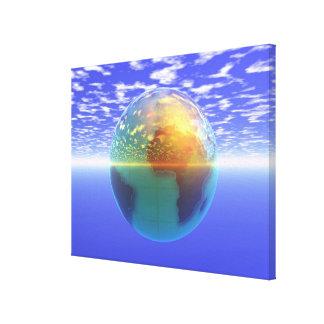 3D Globe 9 Canvas Print