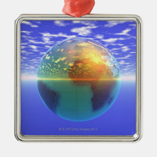 3D Globe 9 Christmas Ornament
