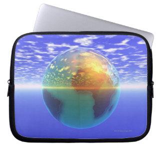 3D Globe 9 Computer Sleeve
