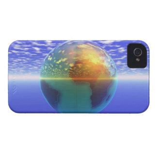 3D Globe 9 iPhone 4 Case-Mate Cases