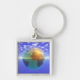 3D Globe 9 Key Ring