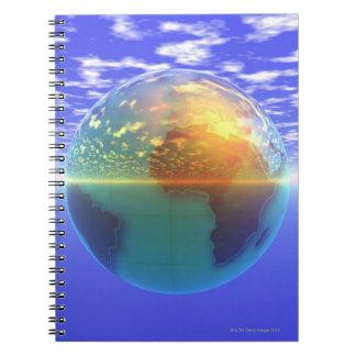 3D Globe 9 Notebook