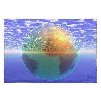 3D Globe 9 Placemat