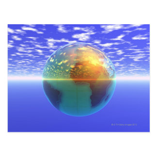 3D Globe 9 Postcard