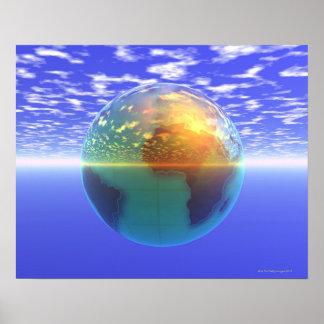 3D Globe 9 Poster
