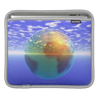 3D Globe 9 Sleeve For iPads