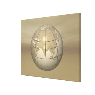 3D Globe Canvas Print