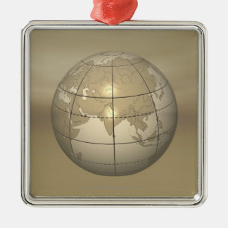 3D Globe Christmas Ornament