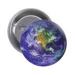 3D Globe Earth Day 6 Cm Round Badge