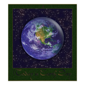 3D Globe Earth Day Poster